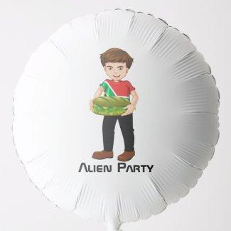 Billy's Alien Party Balloon