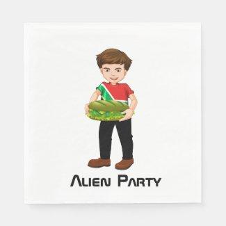 Billy's Alien Party Napkins