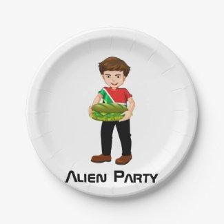 Billy's Alien Party Plate