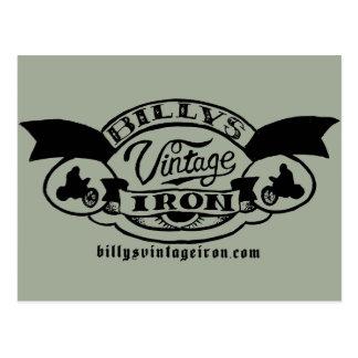 Billy's Vintage Iron Logo Postcard