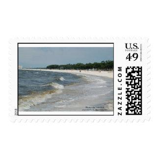 Biloxi Beach Postage Stamp