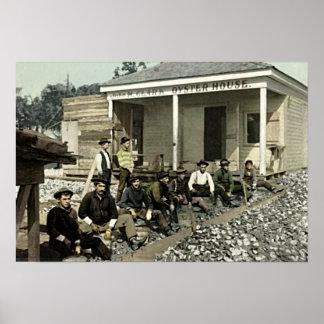 Biloxi, casa 1905 de la ostra de Mississippi Póster