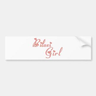 Biloxi Girl tee shirts Car Bumper Sticker