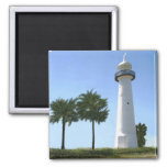 Biloxi lighthouse 2 inch square magnet