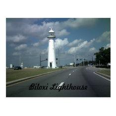 Biloxi Lighthouse Postcard at Zazzle