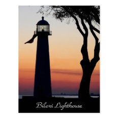 Biloxi Lighthouse Postcard at Zazzle