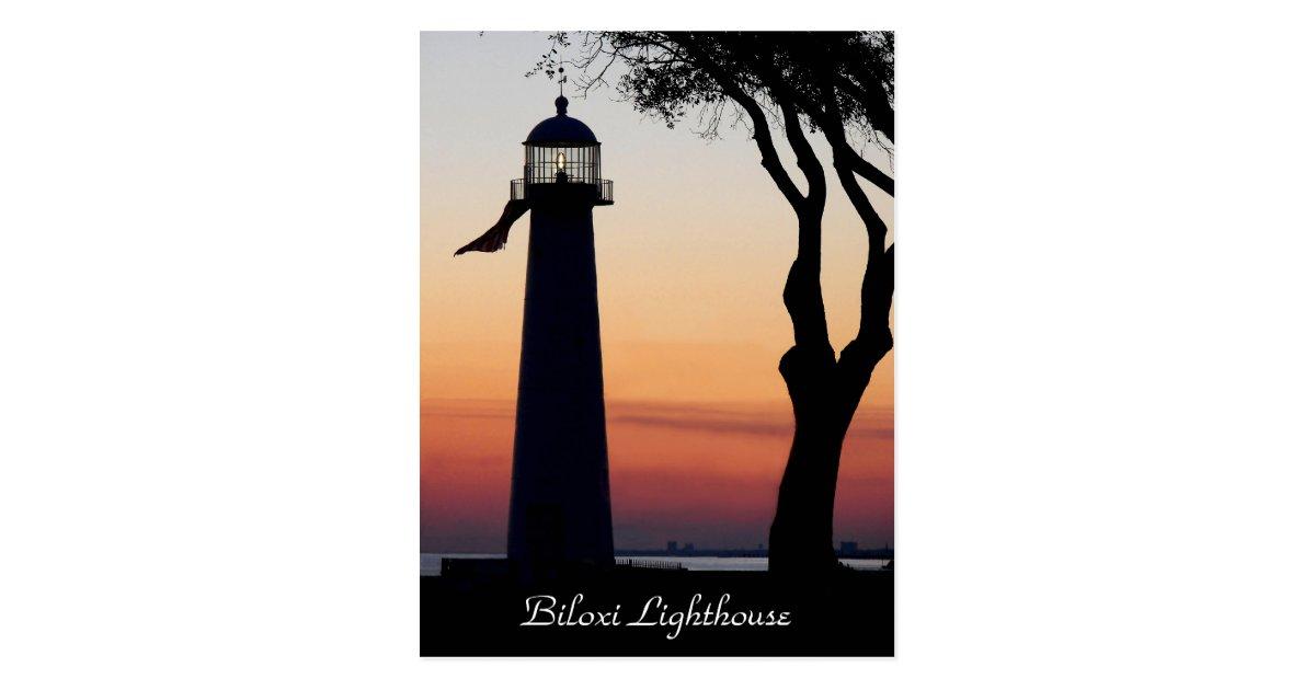 Biloxi Lighthouse Postcard Zazzle Com