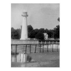 Biloxi Lighthouse Vintage Photo Postcard at Zazzle
