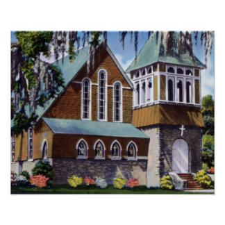 Biloxi Mississippi Church of the Redeemer Poster