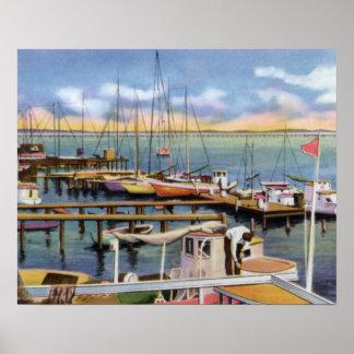 Biloxi Mississippi Shrimp Boats Poster