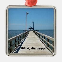 Biloxi, MS Metal Ornament