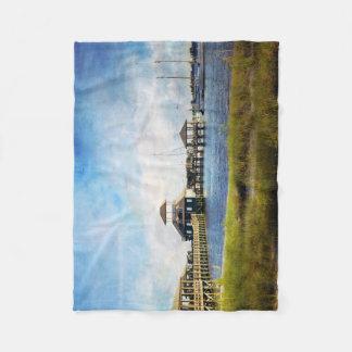 Biloxi Schooner Pier Blanket Fleece Blanket