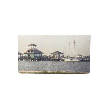 Beach Themed Biloxi Schooner Pier Checkbook Cover