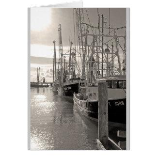 Biloxi Shrimp Boats at Dock Card