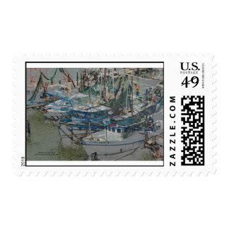 Biloxi Shrimp Boats Stamp