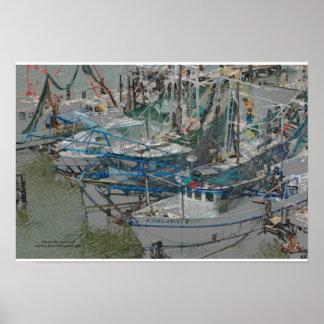 Biloxi Shrimp Boats Poster
