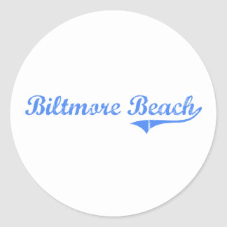 Biltmore Beach Florida Classic Design Round Stickers