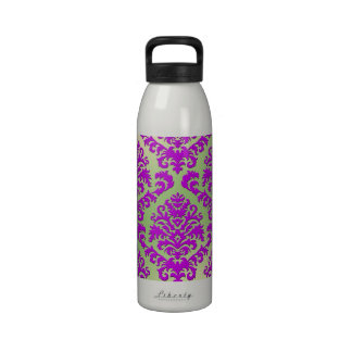 BILTMORE DAMASK in FUCHSIA and GREEN GRADIENT Drinking Bottles