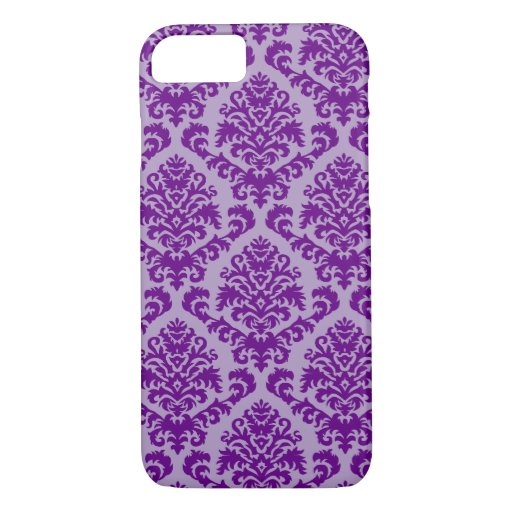 BILTMORE DAMASK in PURPLE and LAVENDER iPhone 8/7 Case