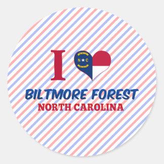 Biltmore Forest, North Carolina Round Sticker