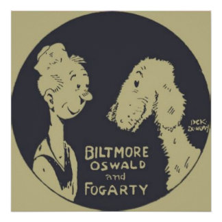 Biltmore Oswald and Fogarty Poster