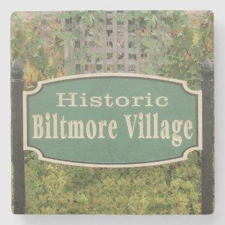 Biltmore Village Sign, Asheville, NC. Coaster