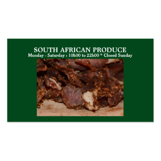 Biltong business green | PERSONALIZE Double-Sided Standard Business Cards (Pack Of 100)
