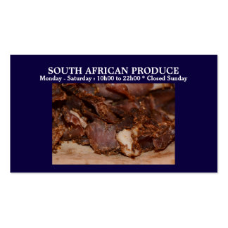Biltong business | PERSONALIZE Double-Sided Standard Business Cards (Pack Of 100)