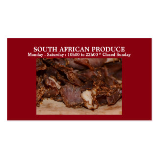 Biltong business red | PERSONALIZE Double-Sided Standard Business Cards (Pack Of 100)