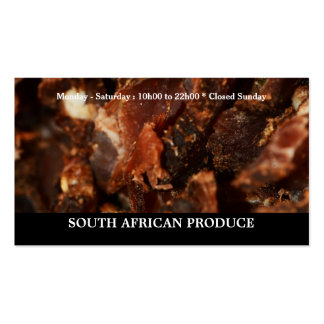 Biltong jerkey South African business Double-Sided Standard Business Cards (Pack Of 100)