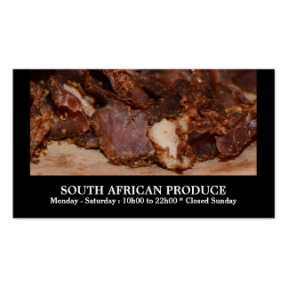 Biltong South African business Double-Sided Standard Business Cards (Pack Of 100)