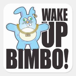Bimbo Bad Bun Wake Square Sticker