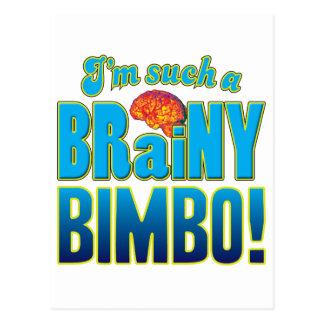 Bimbo Brainy Brain Postcard