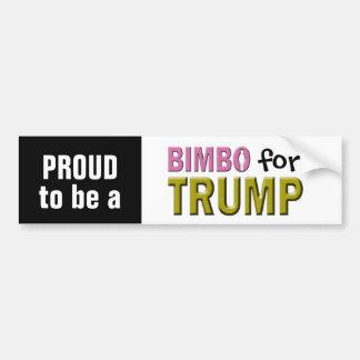 Bimbo for Trump Car Bumper Sticker