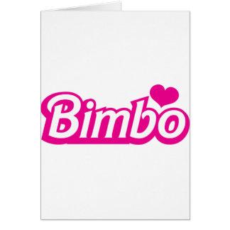 Bimbo pretty little dolly font card