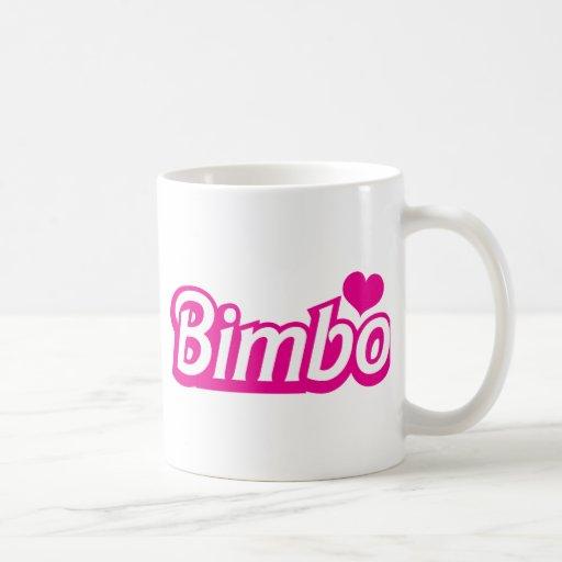 Bimbo pretty little dolly font coffee mugs