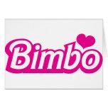 Bimbo pretty little dolly font greeting card