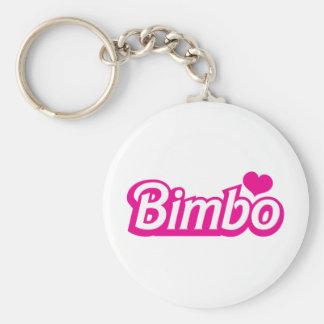 Bimbo pretty little dolly font keychain