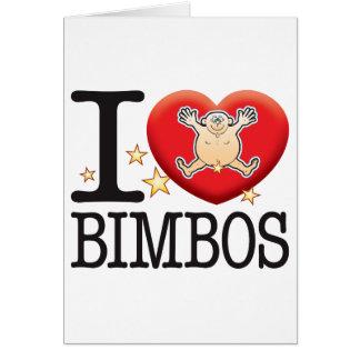 Bimbos Love Man Greeting Card
