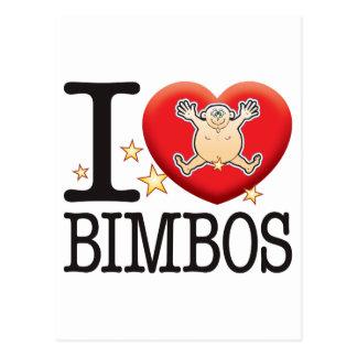 Bimbos Love Man Postcard