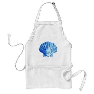 Bimini Blue Sea Shell Adult Apron