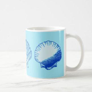 Bimini Blue Sea Shell Coffee Mug