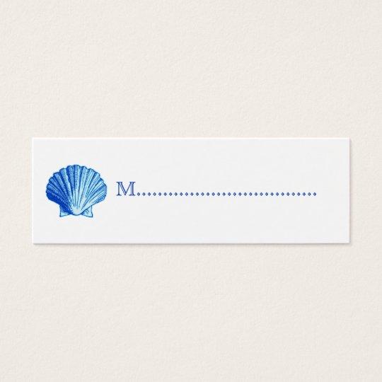 Bimini Blue Shell Seating Cards