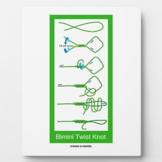 Bimini Twist Knot (Knotology) Plaque