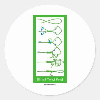 Bimini Twist Knot Round Sticker