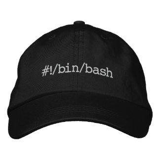 #!/bin/bash embroidered baseball cap