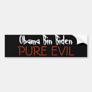 Bin Biden, MAL PURO de Obama Pegatina De Parachoque