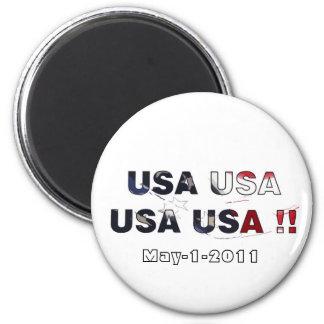 Bin laden dead 2011 2 inch round magnet