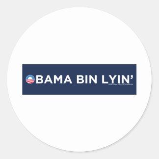 Bin Lyin de Obama Pegatina Redonda