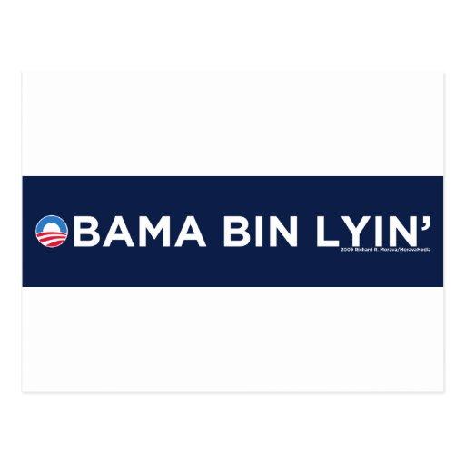 Bin Lyin de Obama Tarjetas Postales